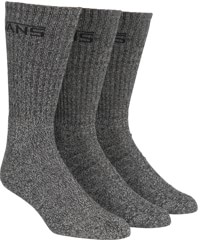 Vans Classic Crew 3-Pack Sock - black heather