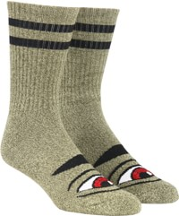 Toy Machine Sect Eye III Crew Sock - heather green