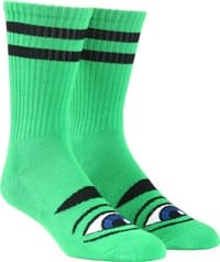 Toy Machine Sect Eye III Crew Sock - kelly green