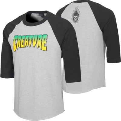 Creature Logo Raglan 3/4 Sleeve T-Shirt - view large