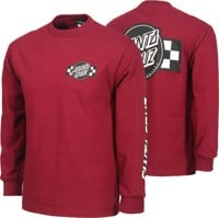 Santa Cruz Contest L/S T-Shirt - burgundy