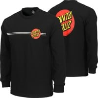 Santa Cruz Classic Dot L/S T-Shirt - black