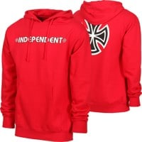 Independent Bar/Cross Hoodie - red