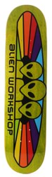 Alien Workshop Spectrum 7.875 Skateboard Deck - yellow / black text
