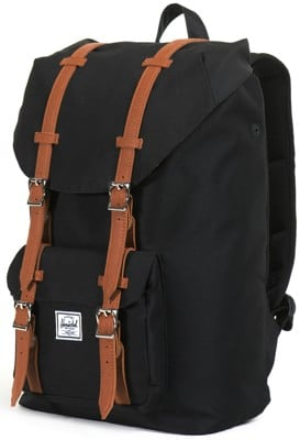 Herschel Supply Little America Mid Volume Backpack - black/tan - view large