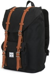 Herschel Supply Little America Mid Volume Backpack - black/tan