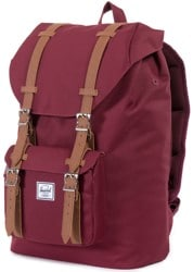 Herschel Supply Little America Mid Volume Backpack - windsor wine/tan