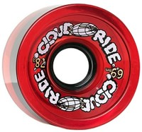 Cloud Ride Cruiser Longboard Wheels - clear red (78a)