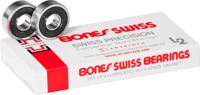 Bones Bearings Swiss Labyrinth L2 Skateboard Bearings - black