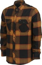 Brixton Bowery Flannel - black/gold