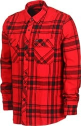 Brixton Bowery Flannel - red/black
