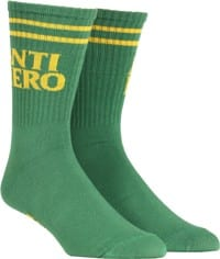 Anti-Hero Black Hero If Found Sock - kelly/yellow