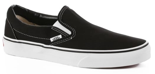 Vans Classic Slip-On Skate Shoes - black - view large