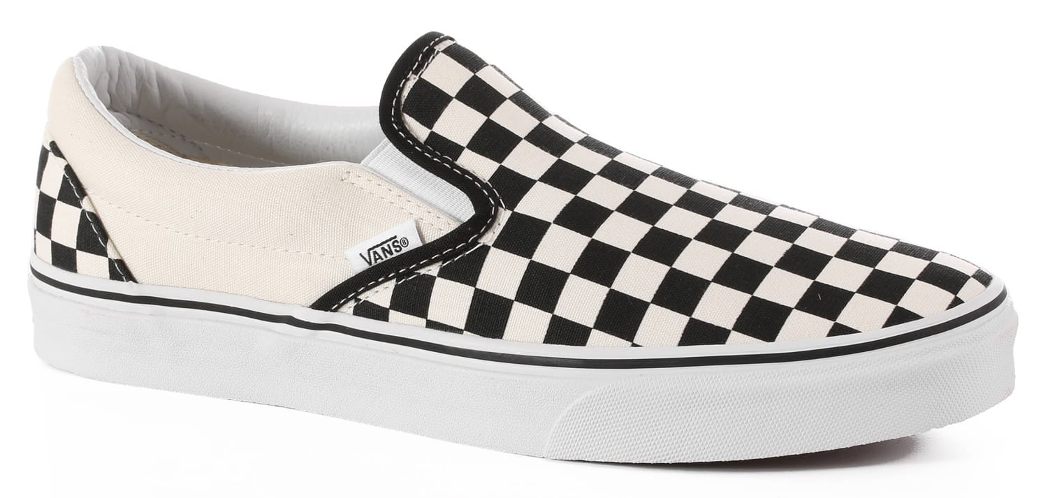 Vans Classic Slip-On Shoes - black/white checker - Free Shipping