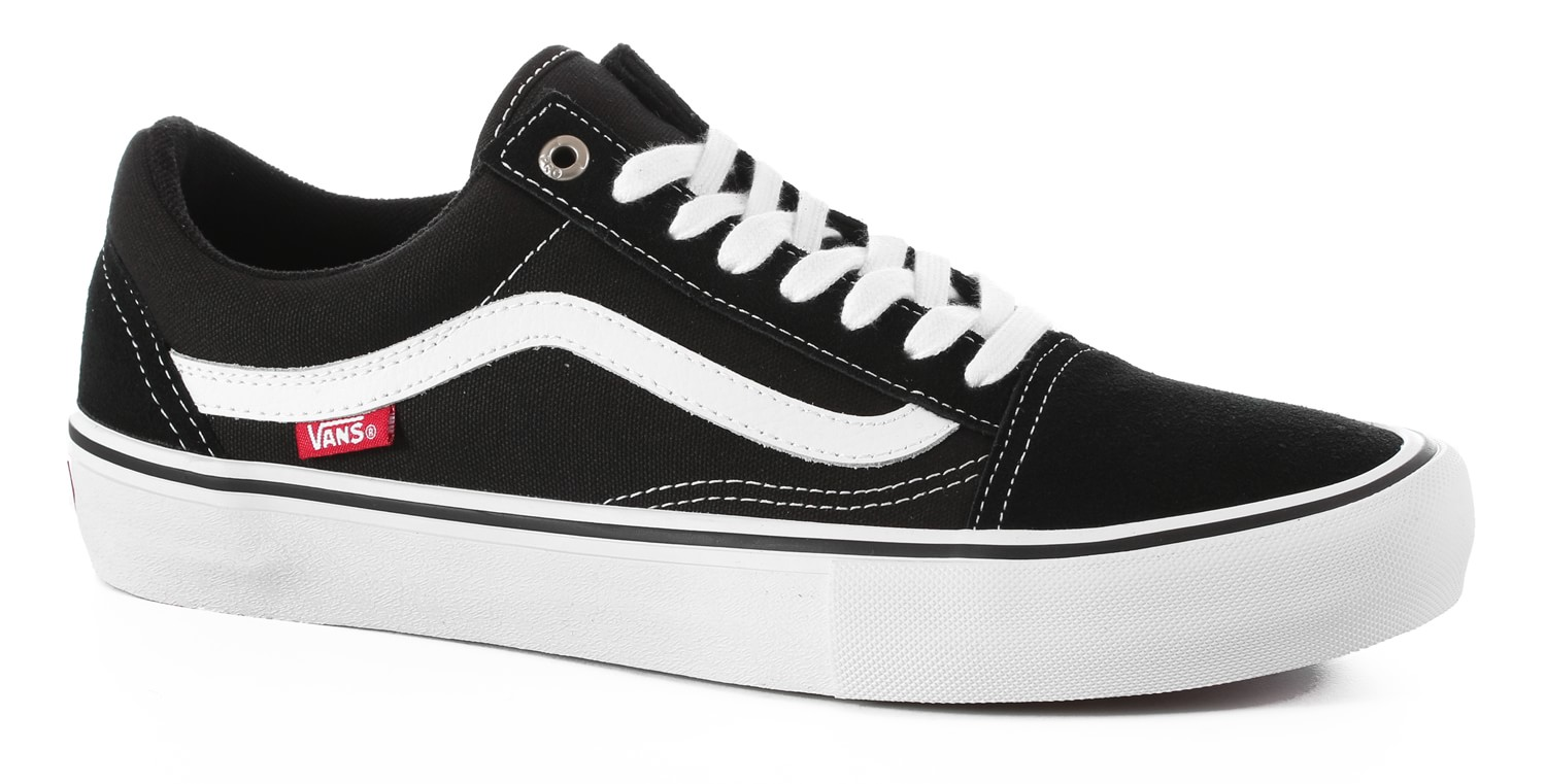 vans old skool pro skate shoes black white free. Black Bedroom Furniture Sets. Home Design Ideas