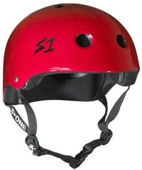 S-One Lifer Dual Certified Multi-Impact Skate Helmet - bright red gloss