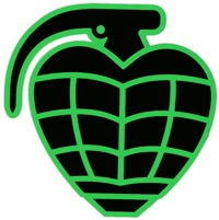 Thunder Trucks Grenade Diecut LG Sticker - black/green