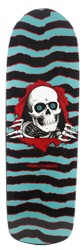 Powell Peralta Old School Ripper 10.0 Skateboard Deck - turquoise/black