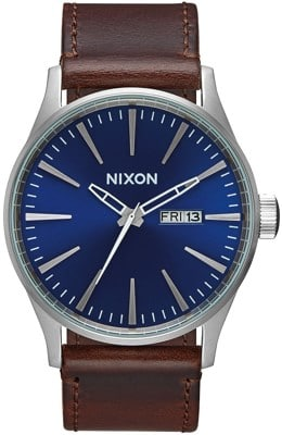 Nixon Sentry Leather Watch - view large