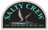 Salty Crew Tern Bird Sticker - black