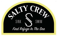 Salty Crew Buoy Sticker - black