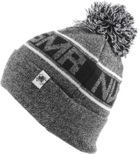 Never Summer NVR SMR Pom Beanie - salt/pepper