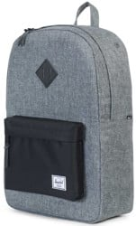 Herschel Supply Heritage Backpack - raven crosshatch/black/black pebbled leather