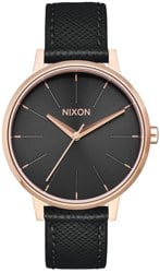Nixon Kensington Leather Watch - rose gold/black