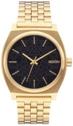 Nixon Time Teller Watch - gold/black/stamped sacred geometry