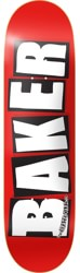 Baker Brand Logo 8.25 Skateboard Deck - red/white