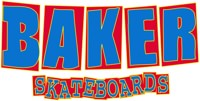 Baker Brand Logo Sticker - blue/red