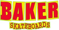 Baker Brand Logo Sticker - red/yellow