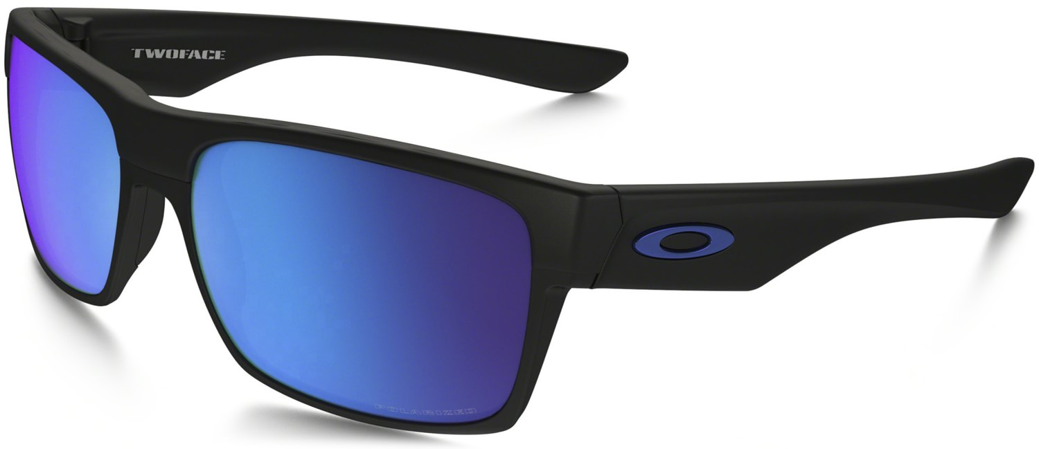 Polarized Oakley Sunglasses  oakley two face polarized sunglasses matte black sapphire