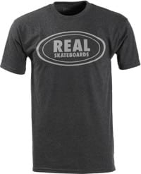 Real Oval T-Shirt - black heather