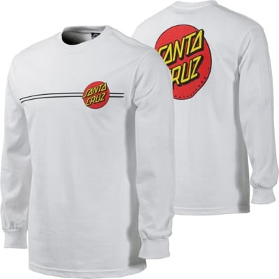 Santa Cruz Classic Dot L/S T-Shirt - white - view large