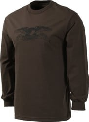 Anti-Hero Basic Eagle L/S T-Shirt - chocolate/black