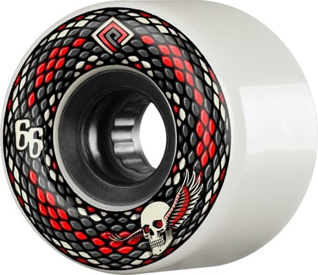 Powell Peralta Snakes Skateboard Wheels - white (75a) - view large