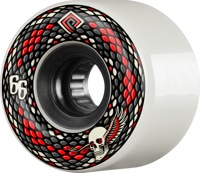 Powell Peralta Snakes Skateboard Wheels - white (75a)