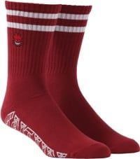 Spitfire Bighead Old E Sock - burgundy/white