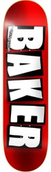 Baker Brand Logo 7.56 Skateboard Deck - red/white