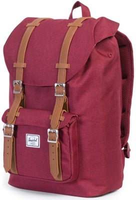 Herschel Supply Little America Mid Volume Backpack - winetasting crosshatch/tan - view large