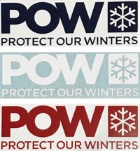 Protect Our Winters POW Die Cut Sticker - blue/red/white (3-Pack)