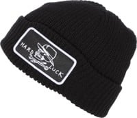 Hard Luck OG Circle Patch Beanie - black