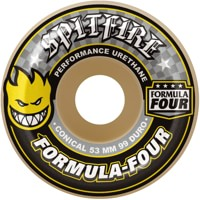 Spitfire Formula Four Conical Skateboard Wheels - white/yellow (99d)