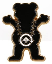 LRG Boss Bear Enamel Pin - black