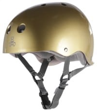 Triple Eight Brainsaver Multi-Impact Sweatsaver Skate Helmet - gold metallic