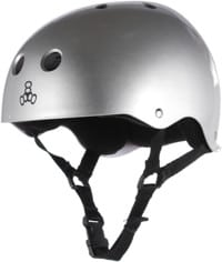 Triple Eight Brainsaver Multi-Impact Sweatsaver Skate Helmet - silver metallic