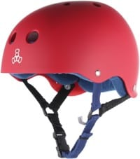 Triple Eight Brainsaver Multi-Impact Sweatsaver Skate Helmet - united red rubber