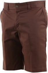 Dickies Twill Work Shorts - chocolate brown