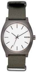 Nixon Time Teller Watch - gunmetal/silver/surplus
